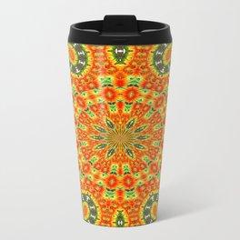 Kaleidoscope of Bold Orange Gazanias  Travel Mug
