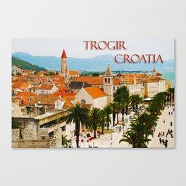 Cityscape of Trogir Croatia Canvas Print
