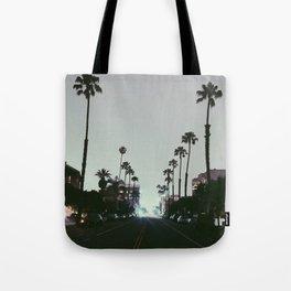 Santa Monica Palm Trees Tote Bag
