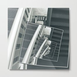 Spinning Carpeted Stairwell Metal Print