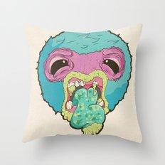 Halitosis Throw Pillow