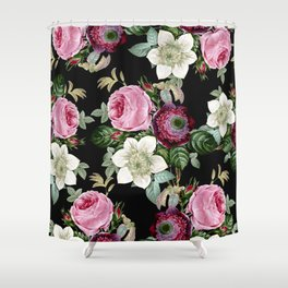 Floral enchant - night Shower Curtain