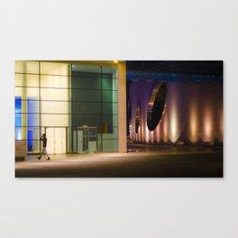 Graphic city architecture Canvas Print