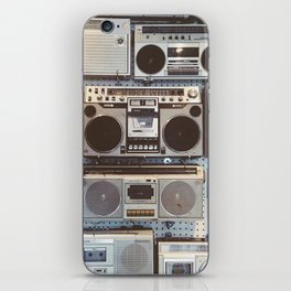 Boom boxes iPhone Skin