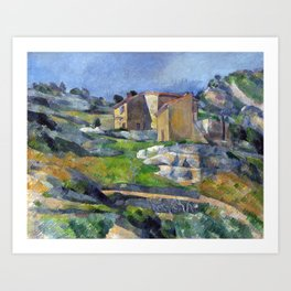 1883 - Paul Cezanne - Houses in Provence, The Riaux Valley near L'Estaque Art Print