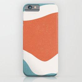 Shape study Retro blue orange iPhone Case