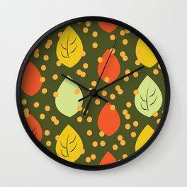 Vintage Leaves Wall Clock