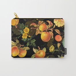 Vintage & Shabby Chic - Midnight Golden Apples Garden Carry-All Pouch