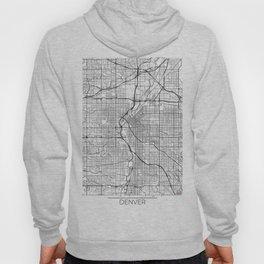 Denver Map White Hoody
