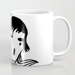 The female Scream, black and white vector art Coffee Mug