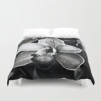 orchid Duvet Covers featuring Orchid  by Ethna Gillespie