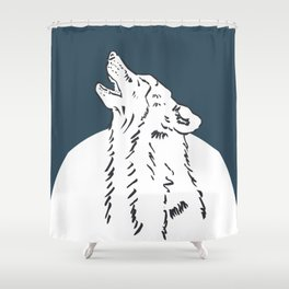 Pra Loup Howling Wolf Shower Curtain