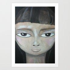 Little Brunette Art Print