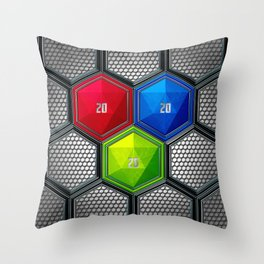 D20 Critical Creative Throw Pillow