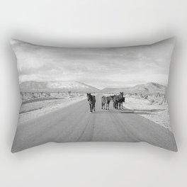 Spring Mountain Wild Horses Rectangular Pillow