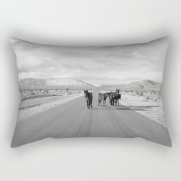 Spring Mountain Wild Horses Rectangular Pillow