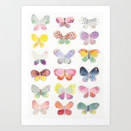 Painted butterflies Art Print