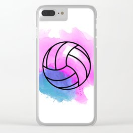 Volleyball Watercolor Clear iPhone Case