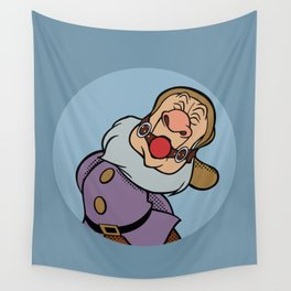 Pop Art Mashup: Snow White - gagged Sneezy Wall Tapestry