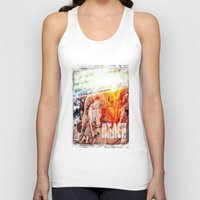 chicago bulls Tank Tops featuring Beach Bulls by Zhineh Cobra