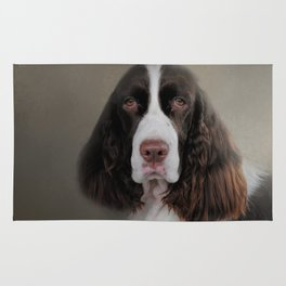 Waiting Patiently - English Springer Spaniel Rug