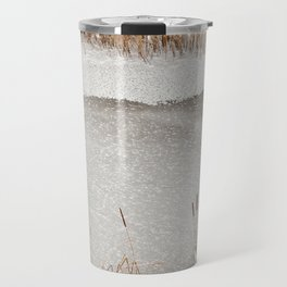Typha reeds winter season Travel Mug