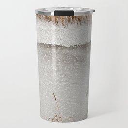 Typha reeds winter season Travel Mug