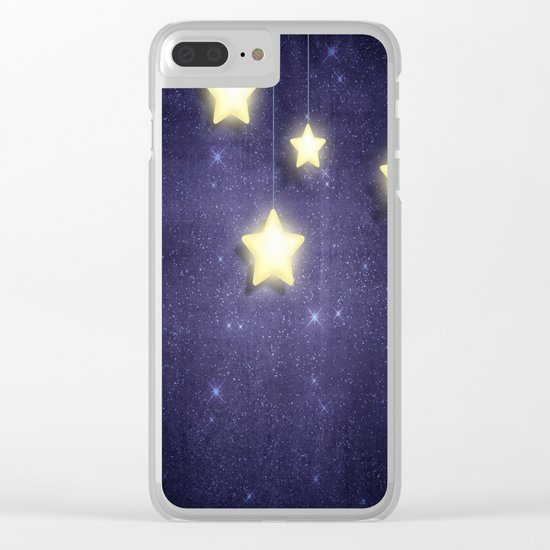 Moon & Stars 02 Clear iPhone Case