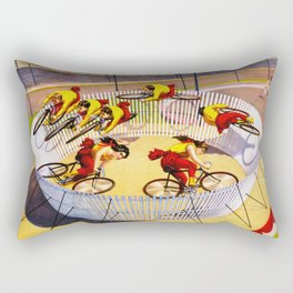 Vintage Bicycle Circus Act Rectangular Pillow