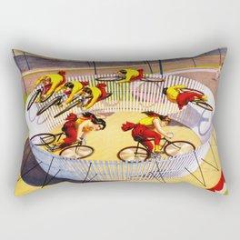 Vintage Bicycle Circus Act Rectangular Pillow