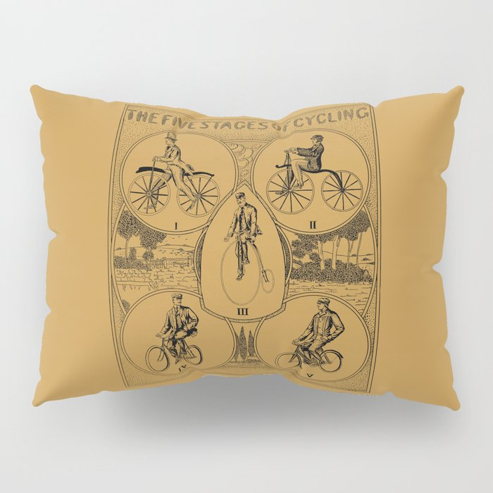 The five stages of cycling (bicycle history) Pillow Sham