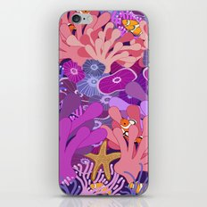 Block Party on the Reef - Clownfish Anemone Marine Sea Life Coral iPhone & iPod Skin