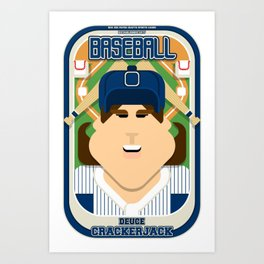Baseball Blue Pinstripes - Deuce Crackerjack - June version Art Print