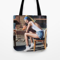 Girl with a Pearl Earring - Chill Out Mood Tote Bag