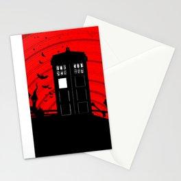 Tardis Halloween Stationery Cards