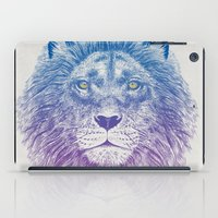kitty iPad Cases featuring Face of a Lion by Rachel Caldwell