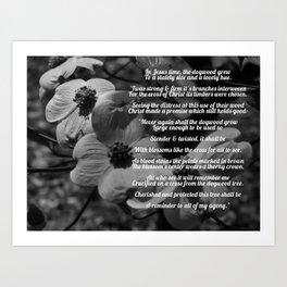 The Legend Of The Dogwood 4 #blackwhite Art Print