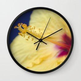 Kihei Hawaii Yellow Hibiscus Flowers Wall Clock