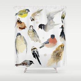 Birdie birdie Shower Curtain