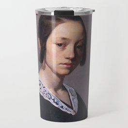 Portrait of Louise-Antoinette Feuardent Jean-François Millet Travel Mug