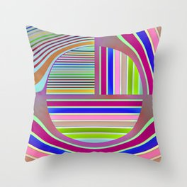 In the colorful focus 1 Throw Pillow