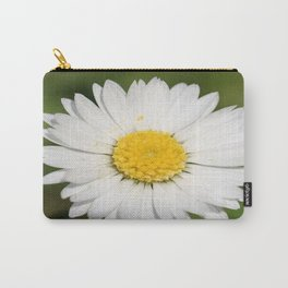 Closeup of a Beautiful Yellow and Wild White Daisy flower Carry-All Pouch