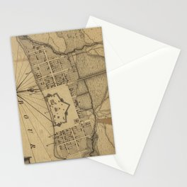 Vintage Map of Pensacola Florida (1778) Stationery Cards
