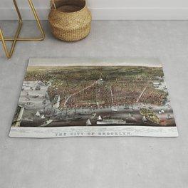 Brooklyn map vintage Rug