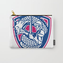 Dragon and Knight Fighting Crest Carry-All Pouch