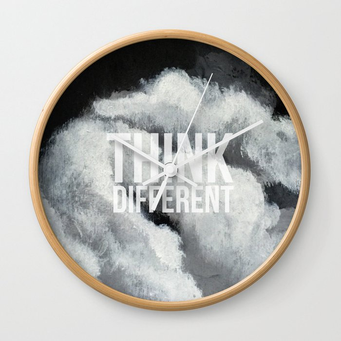 Thoughts in the clouds 02 Wall Clock
