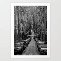 Compression, Marseille Art Print