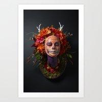 Summer Muertita Front Art Print