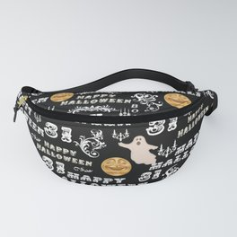 Black White Yellow Halloween Collage Fanny Pack