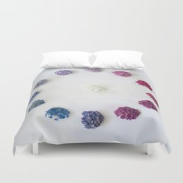 Circle of Hydrangea Duvet Cover